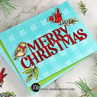 Hero Arts Christmas Robins