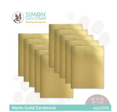 Matt Gold Cardstock used in card making and paper crafting from Simon says Stamp