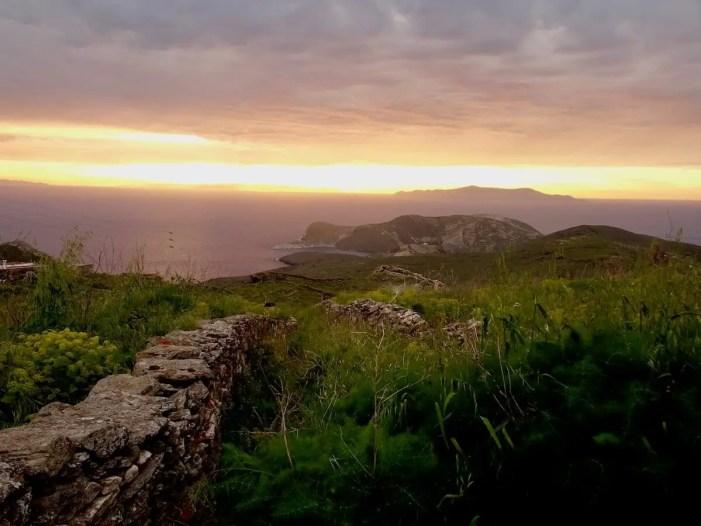 Moody sunset, Syros, Greece