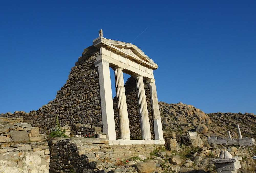 Temple of Isis on Delos, ancient island Greece. Best things to do in Mykonos