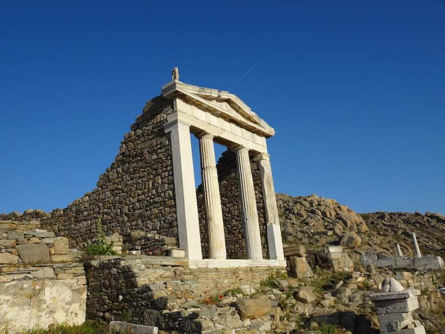 Temple of Isis on Delos, ancient island Greece