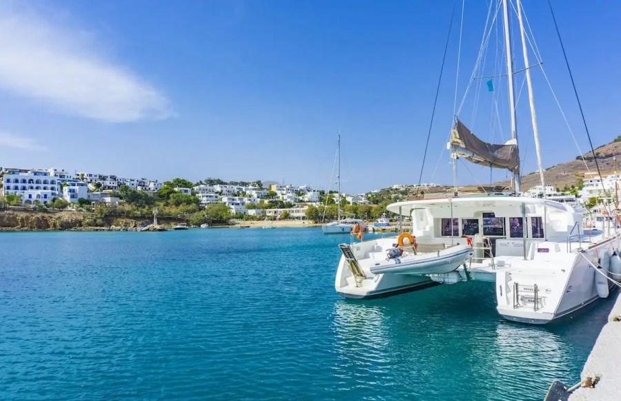 Yacht in Paros