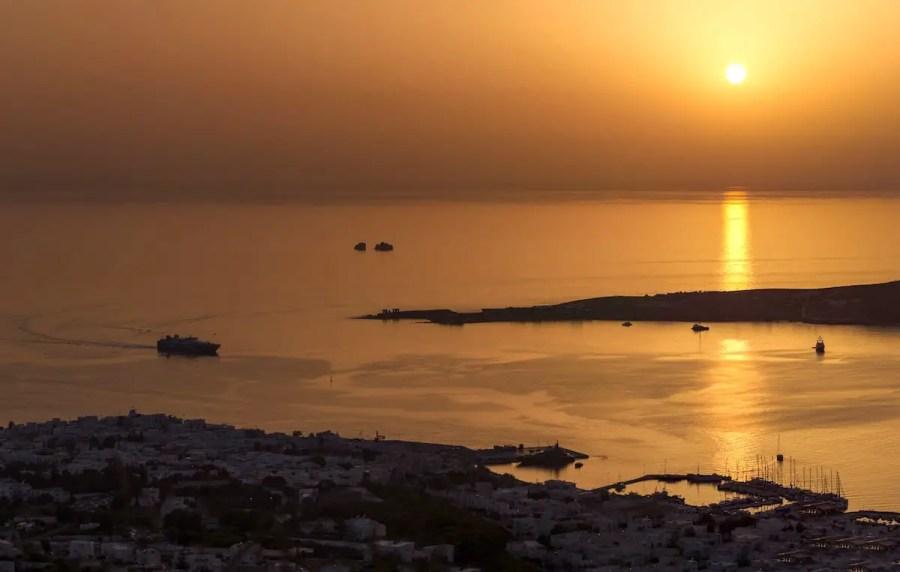 Orange Sunset in Paros, Things to do in Paros, Greece