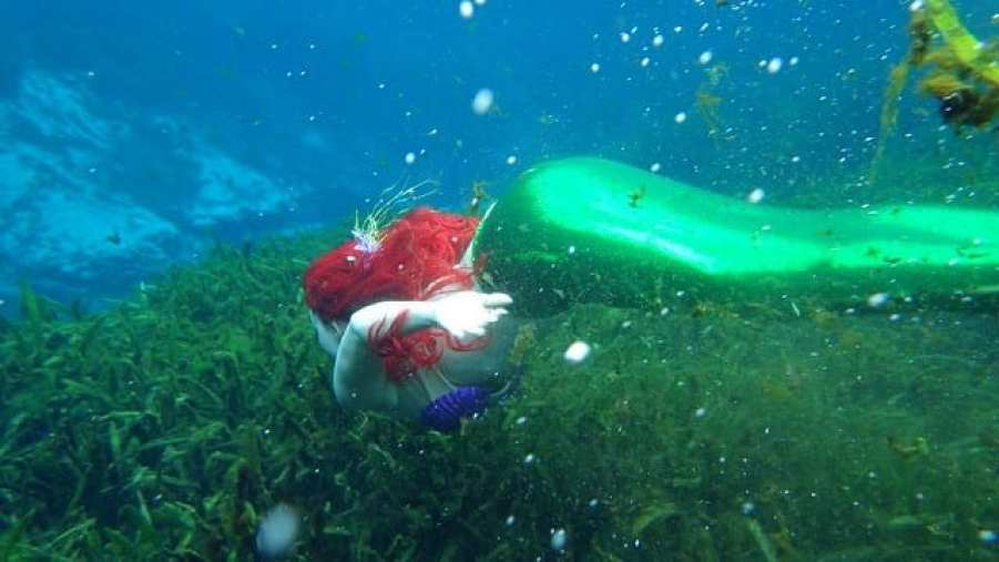 Mermaid with red hair-Unusual things to do in Phuket