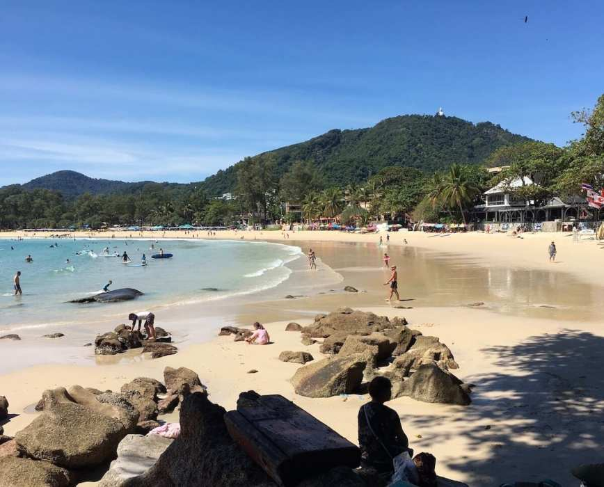 Kata Beach,blue skies-Best Areas to Stay in Phuket
