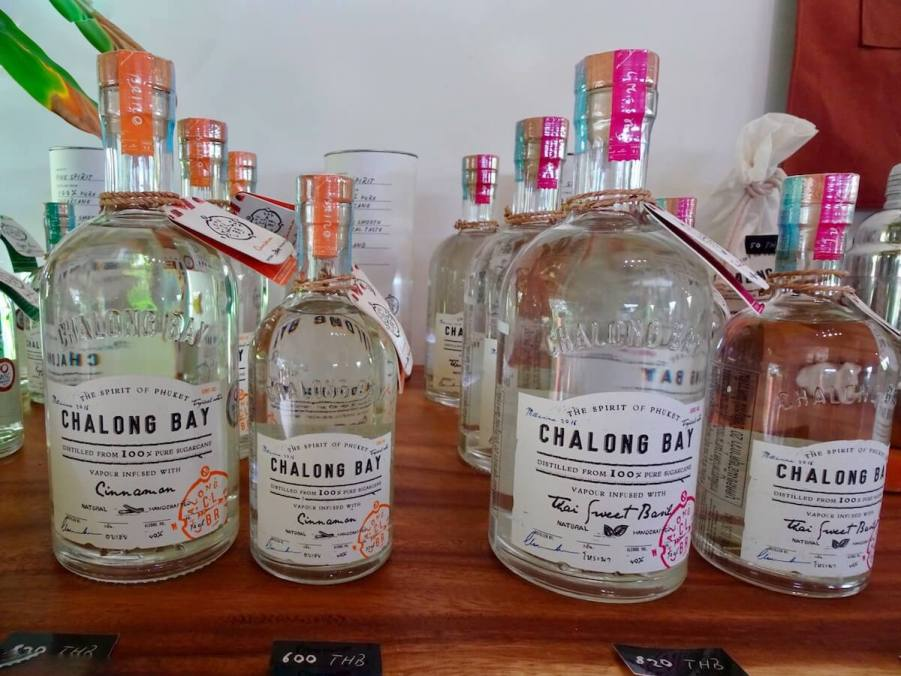 Chalong Bay Rum bottles. Unusual things to do in Phuket