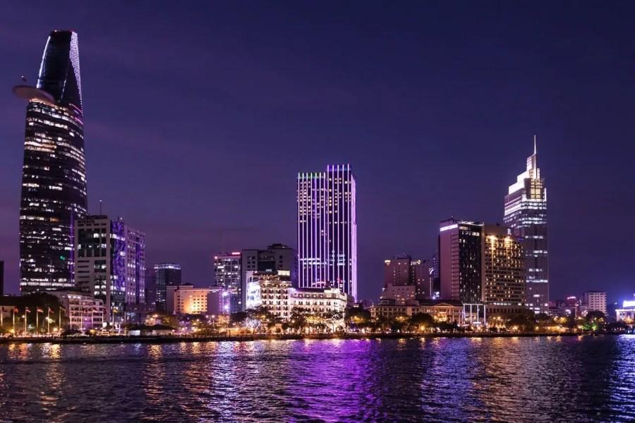 Ho Chi Minh skyline at night