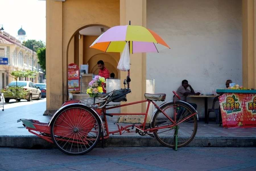 Trishaw in Penang-Starting a new life abroad