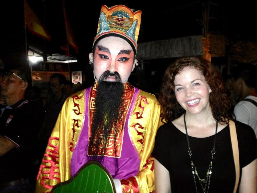 Me with Chinese opera singer-reasons to visit Malaysia