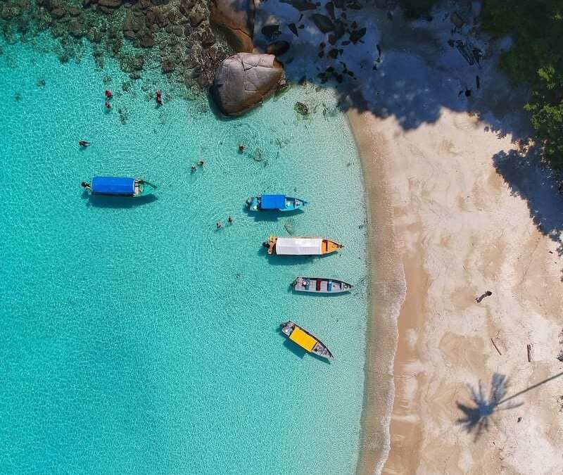 Drone view Perhentians-reasons to visit malaysia