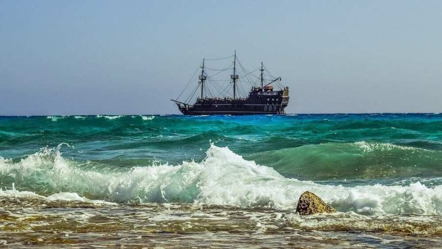 Pirate ship at sea-fun facts about malaysia