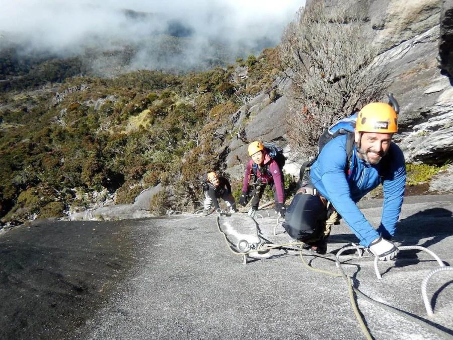Mark climbing Via Feratta Kota Kinabalu