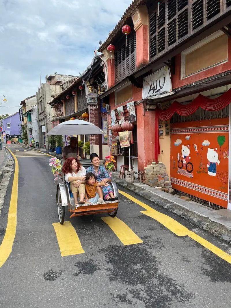 me in trishaw penang- expat life