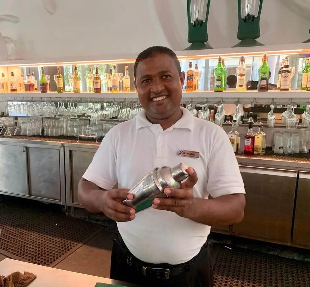 smiley bartender