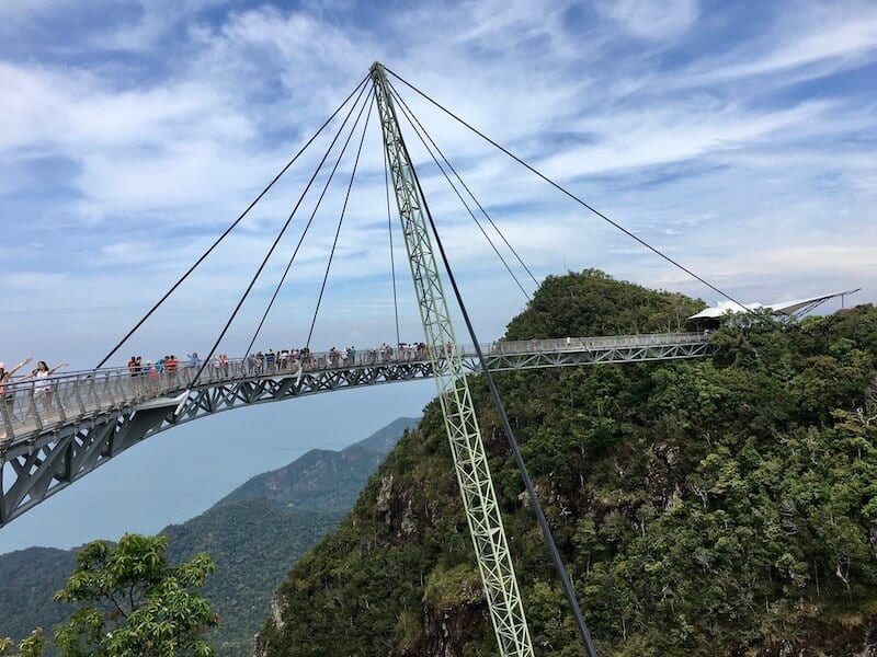View of the Skybridge in Langkawi