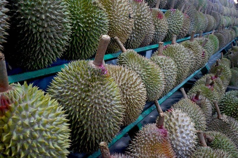 Durians at a stand