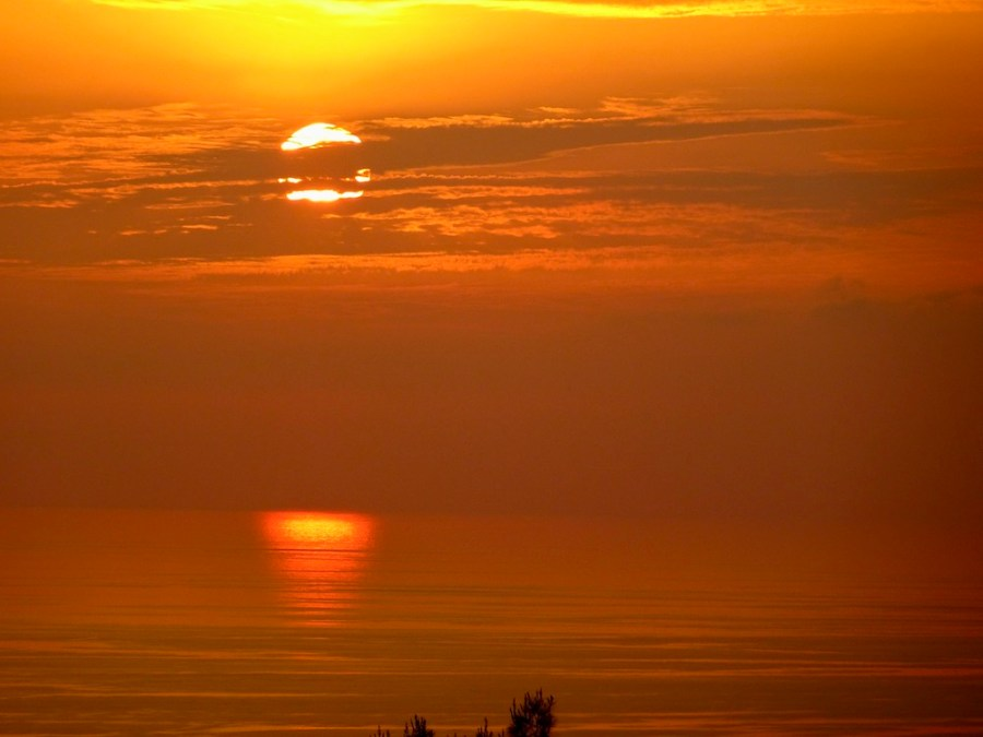 brilliant orange sunsets can improve quality of life