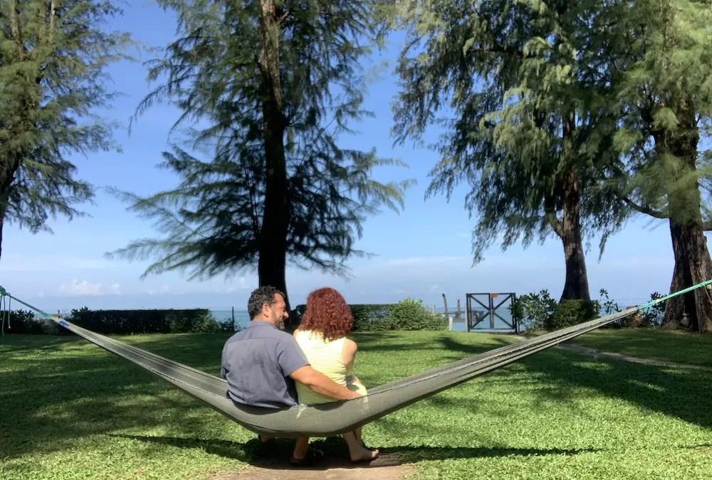 us in a hammock