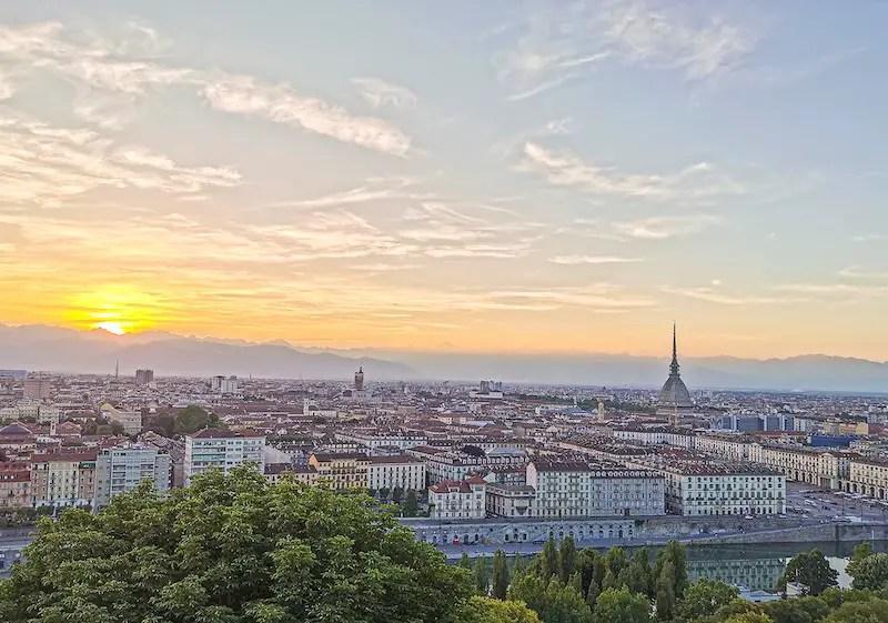 Sunset over Turin, Italy