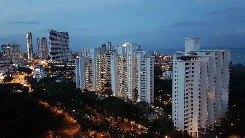 skyline of condos in penang