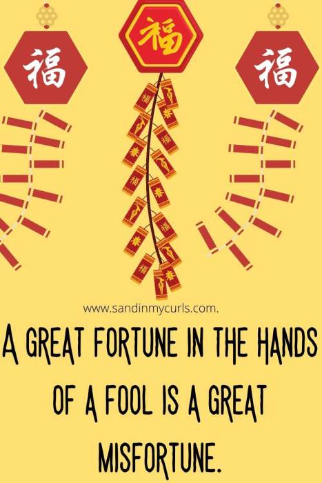 great fortune in the hands of a fool chinese proverb