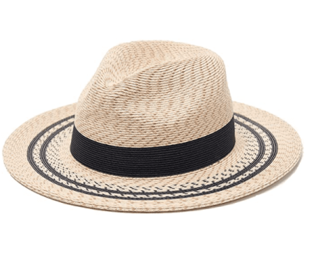 straw fedora with black trim a perfect gift for beach lovers