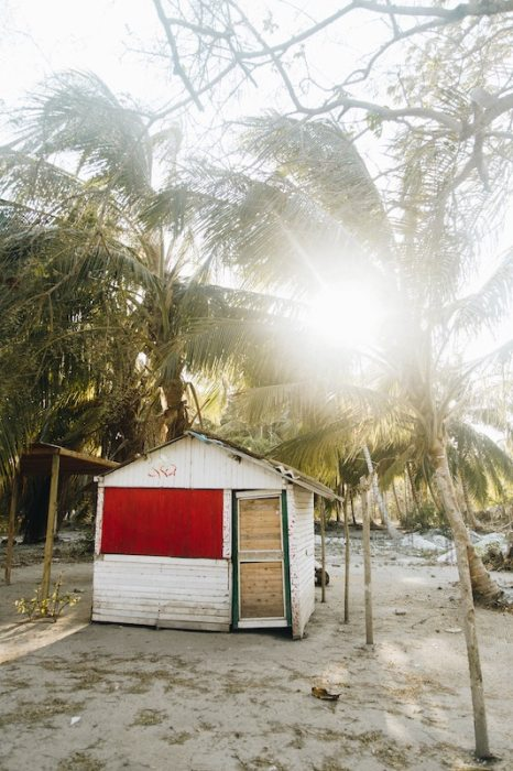 you don't have to live in Malaysia in a wooden hut with red paint on the beach.