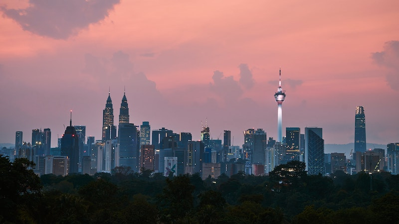 sunset in Kuala Lumpur, Malaysia for expats