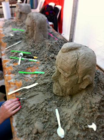 Learn to build a bust out of sand with our sand sculpting workshops.