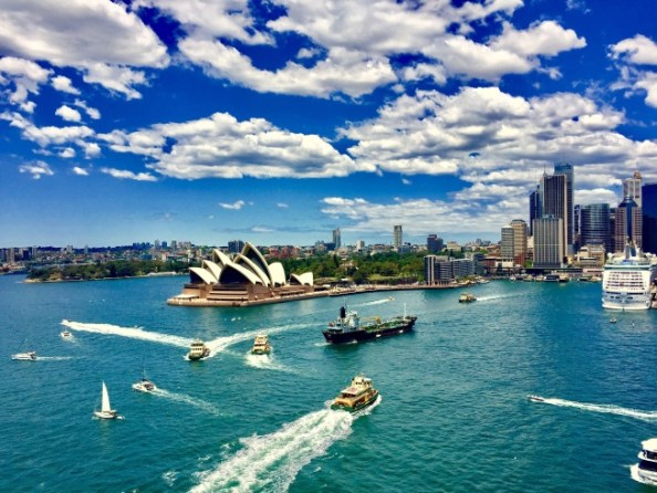 Road trip around Australia - view from the Harbour Bridge