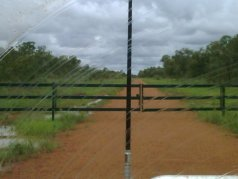 Front gate of cattle station