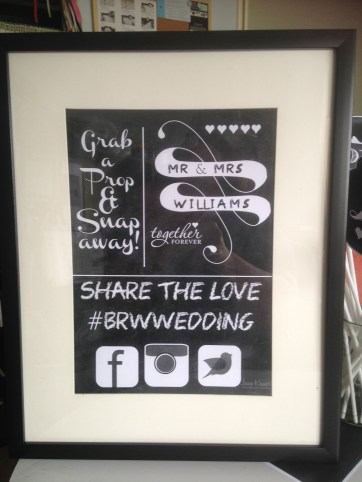 The sign at the Photo Booth