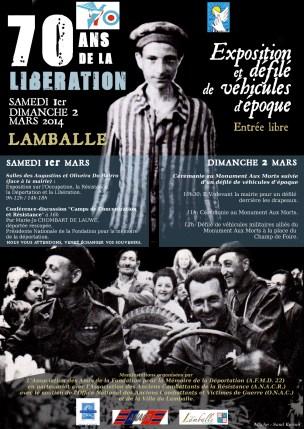 Affiche réalisée pour les commémorations du 70ème anniversaire de la libération à Lamballe (22)