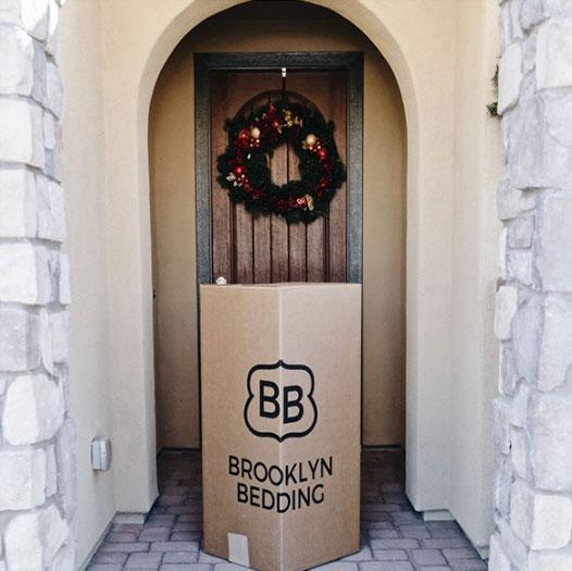 bed-in-box-in-front-doorway
