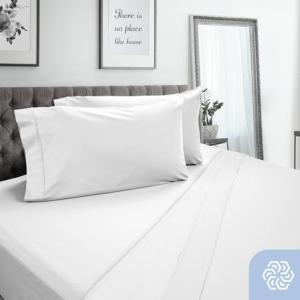 DreamFit-DreamCool 100% Pima Cotton Sheets/White
