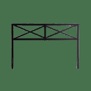 Weekender Taylor Metal Headboard-Black