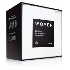 Woven Microfiber Sheets-White