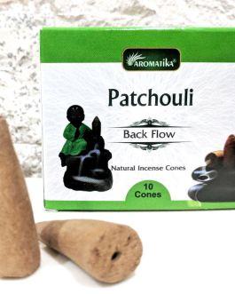 CONES BACK FLOW PATCHOULI pour PE Fontaine résine ou céramique –  (couleurs végétales)