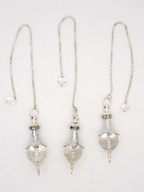 N 2082 PENDULE SEPHOROTON CRISTAL + perle Strass