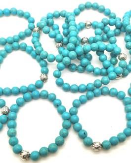 REF501A – BR. PIERRE perles 10mm avec 1 perle métal TURKENITE