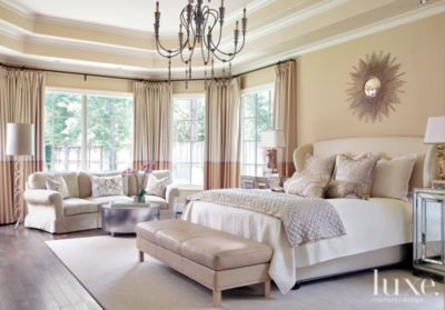 Cream Transitional FrenchInspired Master Bedroom  Luxe