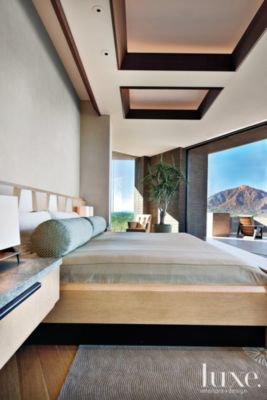 Modern Neutral Bedroom with Private Terrace  Luxe