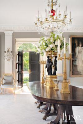 Classical European Grand Dining Hall Luxe Interiors Design