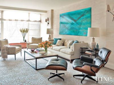 turquoise accents for living room black and white small design modern cream with luxe interiors