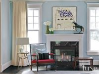Blue Eclectic Living Room Vignette - Luxe Interiors + Design