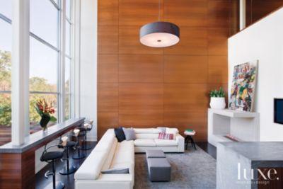 modern white family room