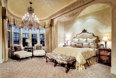 Formal Feminine Master Bedroom  Luxe Interiors  Design