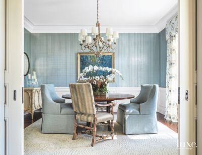 artwork for formal living room design with mounted tv blue striped and white dining chandelier