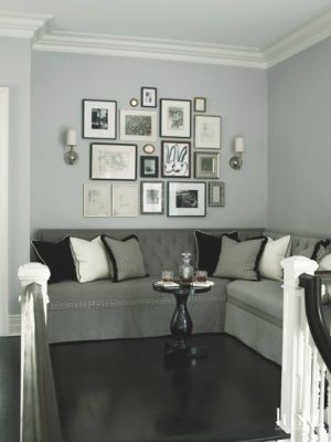 sofa art gallery bed for bad backs wall corner with mini bar table and luxe