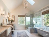 Vaulted Ceiling Master Bathroom with Large Shower ...